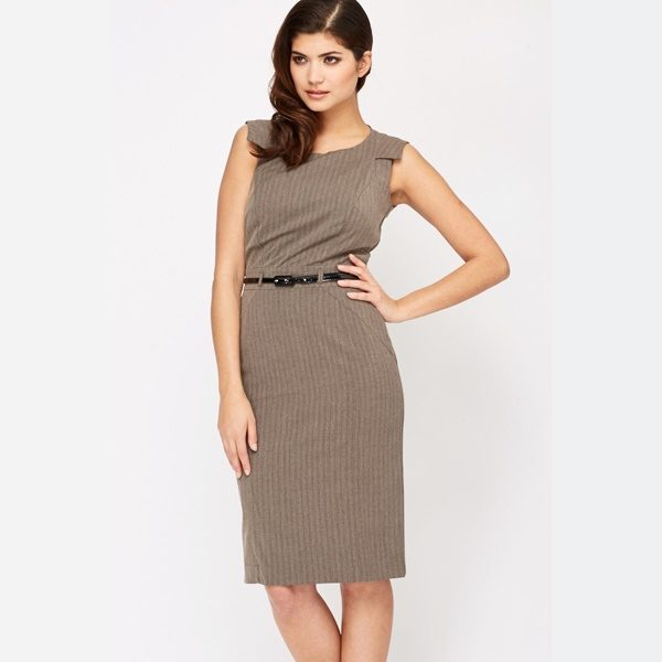 Belted Office Smart Dress -- N4000