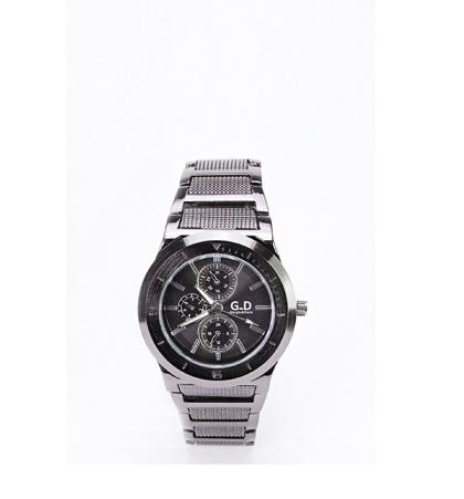 Black Metal Dial Watch -- N5000