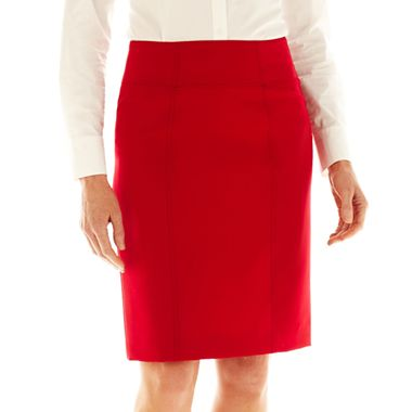 Worthington Modern Seamed Pencil Skirt N3800