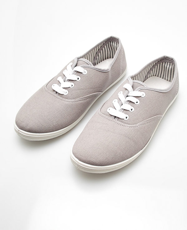 Classic Canvas Sneakers - Grey --  N4000
