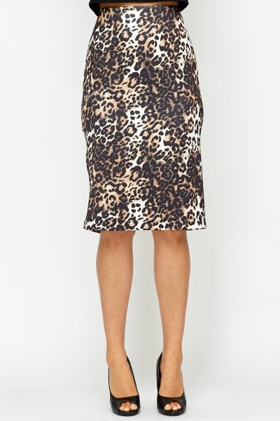 Animal Print Bodycon Skirt -- N4000