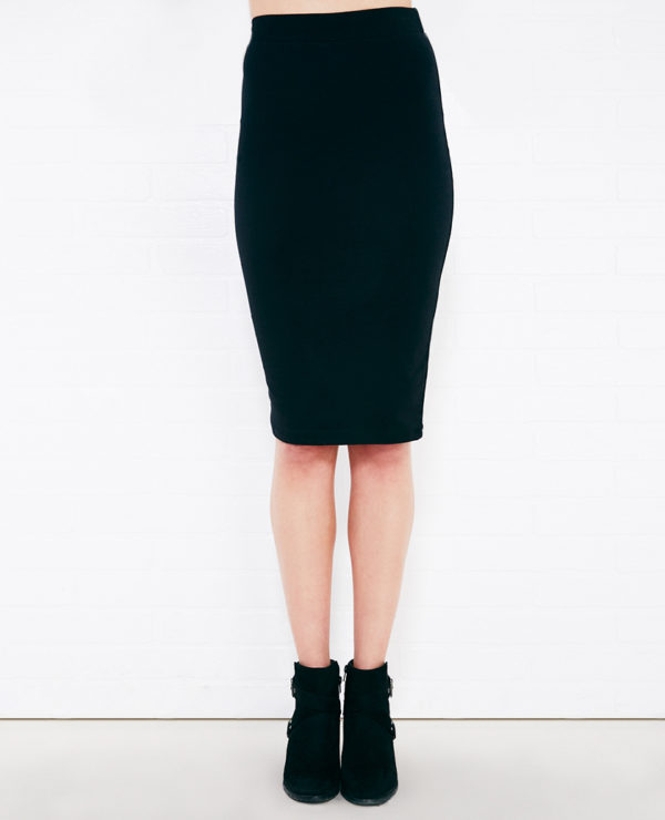 Basic Pull Up Skirt - Black