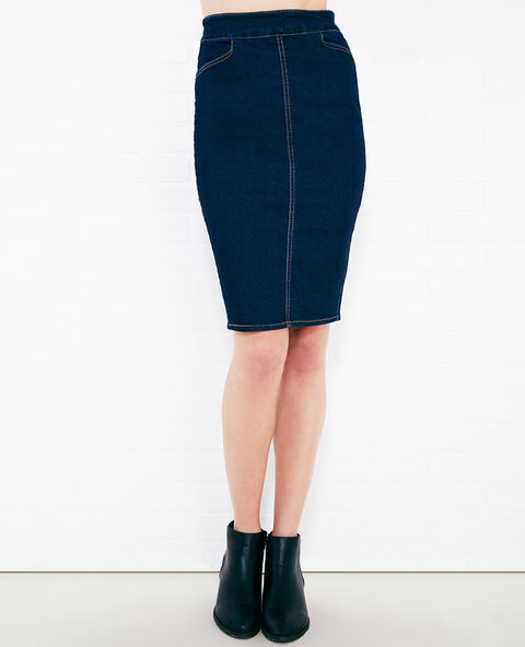 Classic Stretch Denim Skirt -- N7500