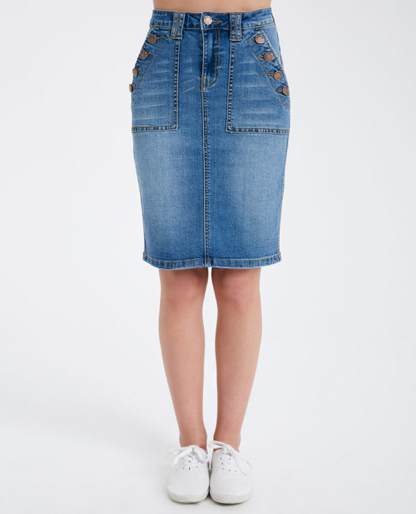 Sailor Denim Skirt -- N4000