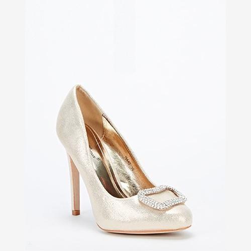 Encrusted Front Heels - Gold -- N5500