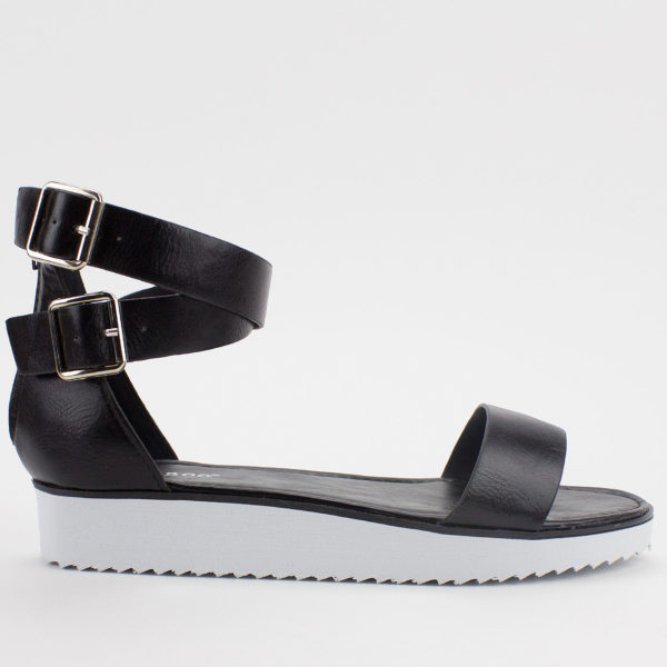 Bamboo Pansy Sandals - Black - 2