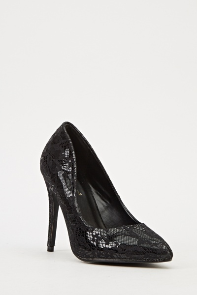 Ideal Mesh Overlay Court Shoes - Black -- N6500