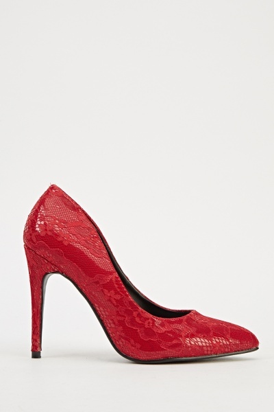 Ideal Mesh Overlay Court Shoes - Red -- N6500