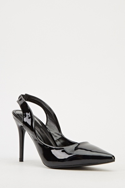 Ideal Sling Back Heels - Black -- N6500