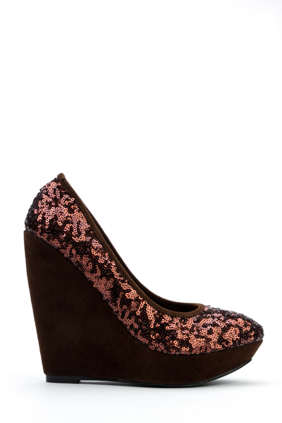 Glitter Style Wedge Heels -- N5500