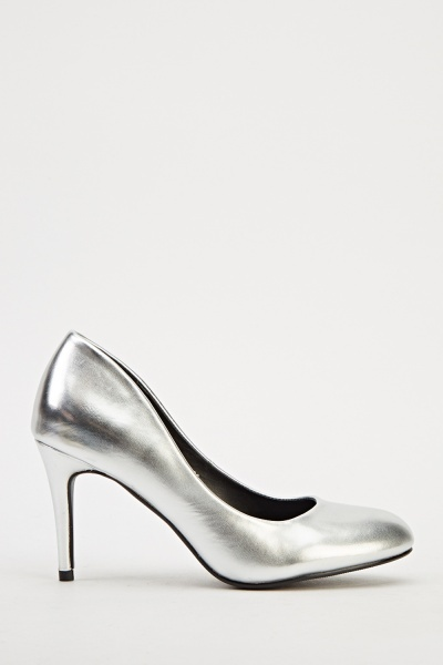 Ideal Hi-Shine Heels - Silver - N6500