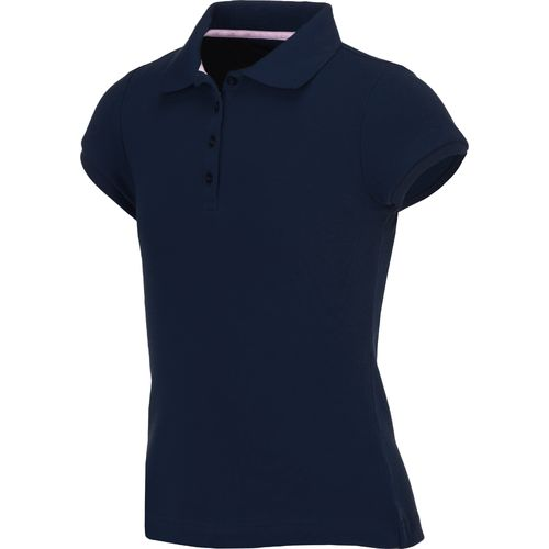 Austin Trading Co Girls Short Sleeve Polos - Navy -- N2500