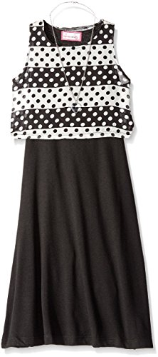 Dream Star Stripe n Dot Pop Over Dress with Necklace -- N6000