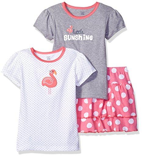 Gerber 3 Piece 2 shirts 1 Skort Playwear - White -- N3500